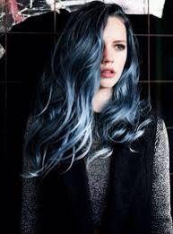 9eae0d29dae2 black and blue ombre hair. Luciana Balderrama