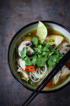 10 Nurturing Broth-Based Soups for when you're feeling under the weather. Healing, comforting and immune boosting soups- all made with bone or veggie broth!- Thai Chicken Noodle Soup | www.feastingathome.com