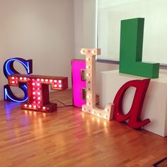 Colourful S-T-E-L-L-A on display at our Stella McCartney showroom in Milan.  Photo courtesy of Boutique Galiano.