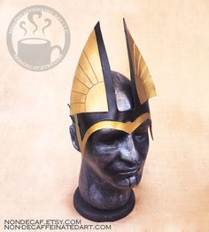 Egyptian Anubis headdress  handmade leather by NonDecaffeinatedArt
