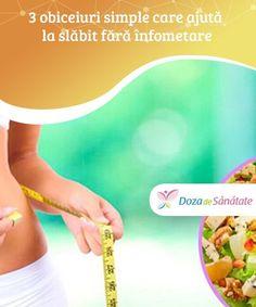 3 obiceiuri simple care ajută la slăbit fără înfometare. Folosirea combinațiilor alimentare potrivite poate fi un element crucial pentru a slăbi și a preveni reîngrășarea. Metabolism, Health Fitness, Sport, Loosing Weight, Deporte, Sports, Fitness, Health And Fitness