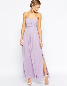 Image 1 - TFNC - Maxi robe avec corsage plissé
