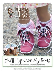Matilda's Closet You'll Flip Over My Boots Doll Clothes Pattern 18 inch American Girl Dolls | Pixie Faire