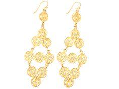 Gold Filigree Lattice Earrings