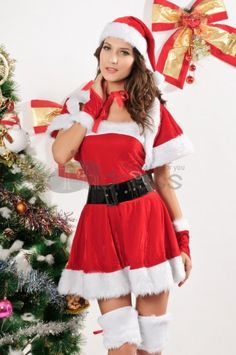 Christmas clothing ( hooded collar vest costumes )
