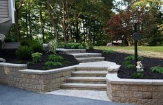 Paver Stairs, Retaining Wall  Entryways, Steps and Courtyard  Lehigh Lawn & Landscaping  Poughkeepsie, NY