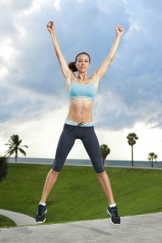 1. Jumping Jacks: Warm up your body with a vigorous stint of jumping jacks. Do these for a total of 30 seconds.