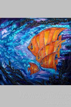 Art of Svetlana Rasskazova Silk Painting- Sea of Happiness