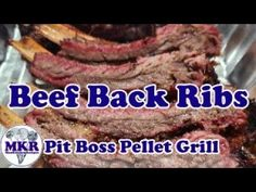 Beef Back Ribs On The Pit Boss Pro Series 1100 Pellet Grill Beef Back Ribs, Smoker Recipes, Steak, Grilling, Boss, Smoking Recipes, Steaks, Backen, Beef