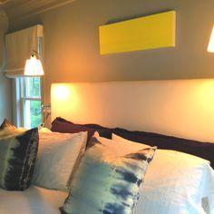 "Master bedroom. ""Let the sunshine"" by Kerri Rosenthal"