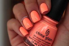 China glaze sun of a peach peach nail polish, neon nail polish, peach nails, Peach Nail Polish, Neon Nail Polish, Peach Nails, Neon Nails, My Nails, Neon Orange Nails, Summer Nail Polish Colors, Coral Toe Nails, Bright Coral Nails