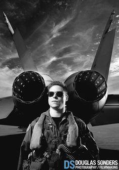 F18 Fighter Jet Pilot Portrait Photoshoot - Douglas Sonders Photography (video)
