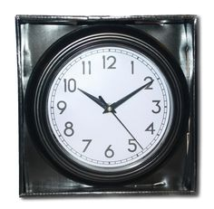 Shabby Chic Black Round Wall Clock - Same Day Posting if ordered by 12 Noon Weekdays Only. Free Delivery, Shabby Chic, Clock, Amazon, Day, Kitchen, Watch, Cooking, Riding Habit