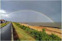 """#POTM competition entry by Geoff @biomed32uk """"Somewhere under the rainbow"""" #StormHour @RMetS Rainbow Photography, Under The Rainbow, Competition, Around The Worlds, Country Roads"""