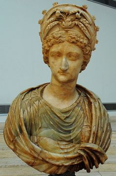 Livia Depicted as Ceres -  14-54 CE. Luni marble and yello alabaster, Muse Capitolini, Rome, Albani Collection