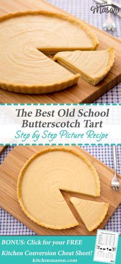 The Best Old School Butterscotch Tart | Caramel Tart | Gypsy Tart