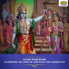 Vivah Panchami is celebrated tomorrow, 23rd November 2017, to commemorate the marriage of Lord Rama and Sita. It falls on the Shukla Paksha Panchami (fifth day of the waxing moon) of the Hindu month of Margashirsha. It is widely celebrated in Ayodhya (believed to be the birthplace of Lord Rama), Uttar Pradesh, and in Janakpur, Nepal.  Devotees observe this day by lighting lamps in temples, adorning the idols of the divine couple with grand clothes and jewellery, and organising various cultural p Hanuman Murti, Latest Wallpapers, Hindu Temple, God Pictures, Wallpaper Online, Gods And Goddesses, Hd Images, Lord, Princess Zelda