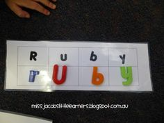 Name activities for kindergarten / prep