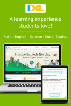 IXL - popular subscription-based learning site for covering math, language arts, science, social studies, and Spanish. I think this is best suited for assessments rather than for learning. Learning Sites, Student Learning, Fun Learning, Teaching Resources, Adjectives To Describe People, Ixl Math, Math Practices, 5th Grade Math, Seventh Grade