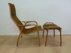 Lamino chair and footstool by   Yngve Ekstrom for Swedese.