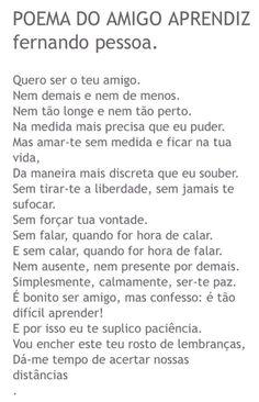 Poema do Amigo Aprendiz. Fernando Pessoa. Mais