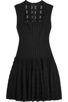 Alaïa - Knitted Mini Dress - Black - FR36