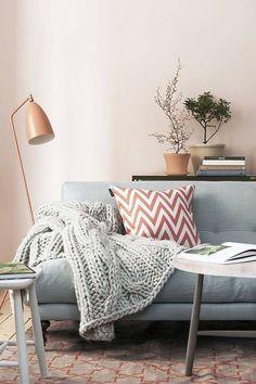 Sala de estar romântica e acolhedora | Eu Decoro