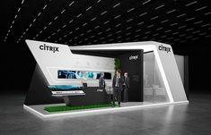 "Exhibition stand "" CITRIX"" 40sq.m., 2sides open.Tokyo, JapanDesignby ""GM stand design""Designer: Nazar Malets"