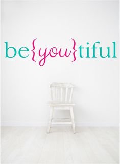 Wall Quotes Vinyl Decal Beautiful Decal Be you tiful by luxeloft, $8.50