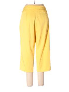 Ashley Stewart Dress Pants: Size 14.00 Yellow Women's Bottoms - $12.99
