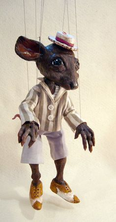 Ratty Marionette, Wind in the Willows Character, handmade, OOAK. $225.00, via Etsy.