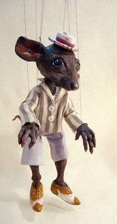 Marioneta de Ratty viento en el carácter por ofMiceandMarionettes