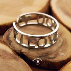 I love you ring free shipping  stainless steel от BorowskiStore
