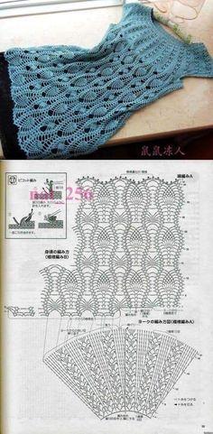 Fabulous Crochet a Little Black Crochet Dress Ideas. Georgeous Crochet a Little Black Crochet Dress Ideas. Col Crochet, Gilet Crochet, Crochet Diagram, Crochet Woman, Crochet Blouse, Crochet Stitches, Crochet Baby, Free Crochet, Irish Crochet