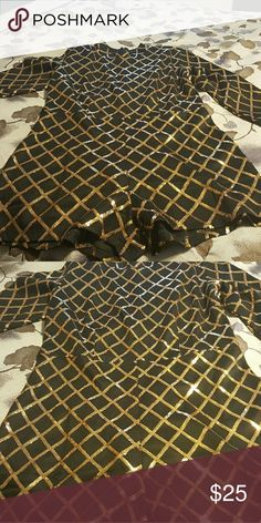 Sequins Black and Gold Romper Brand new never worn Romper! Bought for a party but didn't fit! Has no stretch! Size xl, but fitts like a med! Shorts