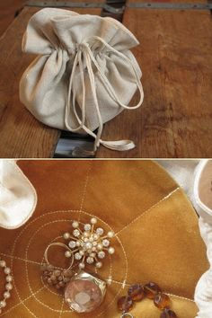 DIY: jewelry pouch...I used to have one of these! been wanting to make another one