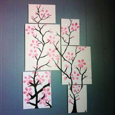 Spring Craft for Kids: Cherry Blossom Art -