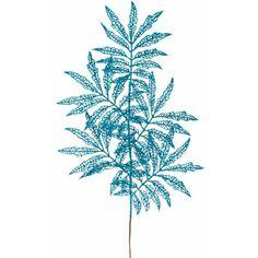 Jade Blue Glitter Holly Pick