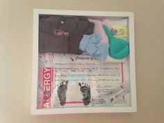 Madelyn's birth day shadow box