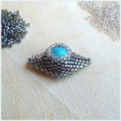 Pattern bijoux: Delica con turchese Set Elena