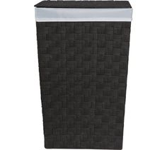 Buy ColourMatch 60 Litre Yarn Laundry Bin - Black at Argos.co.uk, visit Argos.co.uk to shop online for Linen baskets and laundry bins, Bathroom accessories, Home furnishings, Home and garden