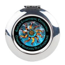 CRPS/RSD Awareness FIre & Ice Round Compact Mirror