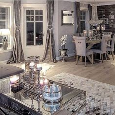 Dining Room Decor grey and white dining room decor Living Room Grey, Living Room Modern, Home Living Room, Living Room Decor, Decor Room, Wall Decor, Interior Decorating, Interior Design, Decorating Ideas
