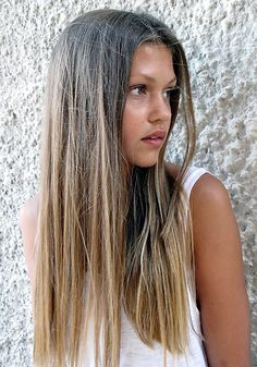 If I go blond, like I think I'm going to soon, this is what it will look like if I let it grow out to Ombre. My natural hair colour is exactly the same as the model's. Not bad!