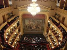 ESTATES THEATER, Prague, Czech Republic - inside this beautiful, restored theater.