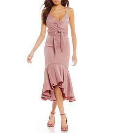 fa78c1e7bb3 Gianni Bini Melinda Satin Wrap Dress  Dillards Gianni Bini