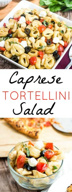 Pair this Caprese Tortellini Salad with pizza for your next Italian dinner! The recipe is easy and delicious. It makes for an easy weeknight meal.