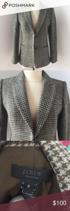 Collection Houndstooth Blazer Made from Irish Wool J. Crew Jackets & Coats Blazers