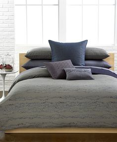 Calvin Klein Pacific Queen Duvet Cover Set - Bedding Collections - duvet cover and 2 shams - Macy's - on sale through 2/22/15 $129.99 and 15% off