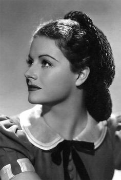 Margaret Lockwood (English actress) with vintage collar & bow-tie ribbon.